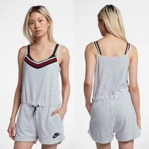Nike Pants - {Nike} Gray One Piece Terry Cloth Shorts Romper